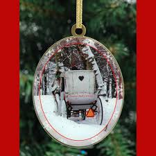 winter in central park new york ornaments gift set