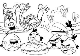 pigs steal birds eggs in angry bird coloring page kids play color
