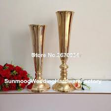 Tall Metal Vases For Wedding Centerpieces by Style Tall Wedding Pillar Flower Stand Silver Metal Vase