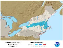 Boston Snow Total Map by National Snow U0026 Ice February 2015 State Of The Climate