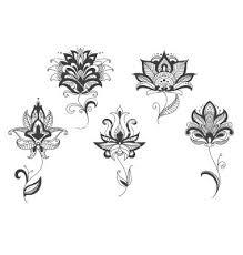 lotus henna gray flowers floral flowers lotus flower