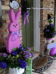 Pinterest Wooden Easter Decorations by Best 25 Outdoor Easter Decorations Ideas On Pinterest Happy