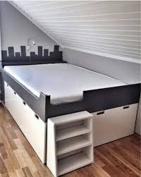 diy platform bed with shelves storage decorations