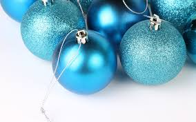 plain and shimmery blue christmas ornaments wallpaper 38973