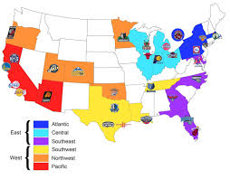 Map Of Premium Outlets Orlando by Map Of All The Nba Teams Organised By Conference And Geographical