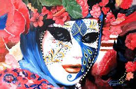 carnevale masks venetian carnevale mask iii painting by leonardo ruggieri