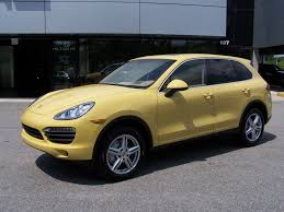 2011 Porsche Cayenne - 2011 porsche cayenne s in sand yellow with sand beige interior