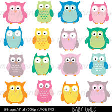 owl clipart baby owl animal clipart baby shower clipart