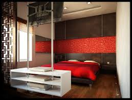 Red Damask Wallpaper Home Decor Interior Captivating Apartment Living Room With Red And White