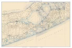 Southampton New York Map by Old Usgs Topo Maps Long Island Town Composite Maps