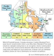 canadian map with time zones canada time zone
