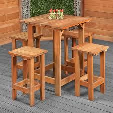 Garden Bar Table And Stools Bar Set