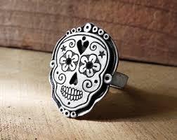 metal skeleton ring holder images Day of the dead ring etsy jpg