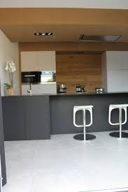 linear kitchen incredible modern futuristic monochrome grey black ivory white
