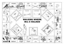 who walking where mrs x walked