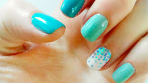 nail art blue ideas 2016 for short nails for summer easy tutorial