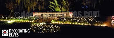 tampa commercial outdoor lighting decorating elves