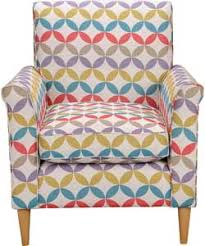 Argos Armchairs Geometric Print Leather Chair Multicoloured Ideas For The