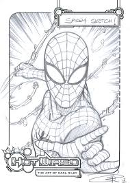 free spider man sketch carl riley art deviantart