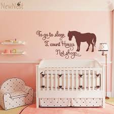 to go to sleep i count horses not sheep horse themed wall decal