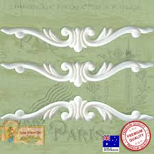 3 x shabby chic french furniture mouldings furniture appliques