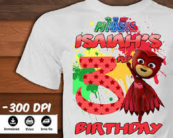 personalized pj masks birthday shirt printable pj masks iron