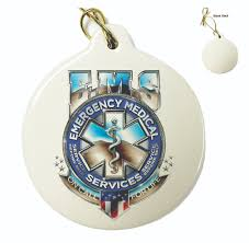 ems badge of honor ornament ornaments firefighter