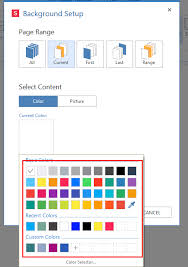 how to add or replace a background color in a pdf document