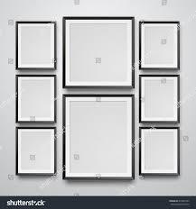 set realistic black frame on white stock vector 679848733