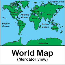 Antarctica On World Map by Labeled World Map Clipart Clipartfest