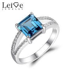 blue gem rings images Leige jewelry london blue topaz ring square cut blue gem jpg