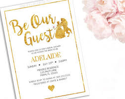 Beauty And The Beast Wedding Invitations Beauty And The Beast Invitation Disney Wedding Bridal Shower