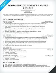 resume exles for fast food sle fast food resume food service resume sles sle resumes