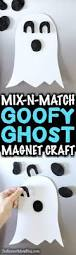 mix n match magnet ghost craft easy halloween kids boredom buster