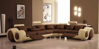living rooms trendy living room with brown futuristic l shaped
