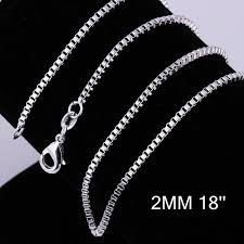 s day necklace with children s names 2018 promotions 925 silver 2mm box chain 18inch 925 silver chain