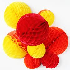 diy tissue paper honeycomb balls gathering