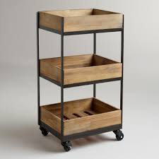 3 shelf wooden gavin rolling cart bathroom essentials