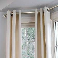 How To Hang Curtains On A Bay Window Window Curtains Probably Fantastic Real Hanging Curtains On Bay