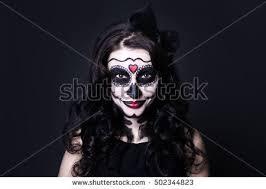 Woman Black Halloween Costume Halloween Mask Stock Images Royalty Free Images U0026 Vectors