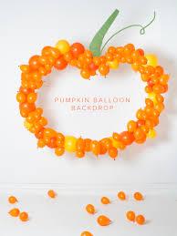 halloween background for photobooth diy pumpkin balloon backdrop