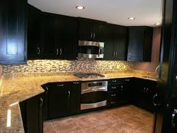 Black Kitchen Cabinets With White Appliances by Mesmerizing Espresso Kitchen Cabinets With White Appliances 103