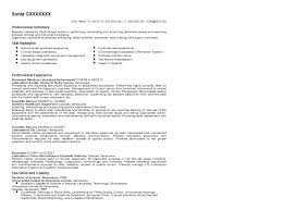 Sample Summary Of Resume by Medical Laboratory Technologist Resume Sample Quintessential