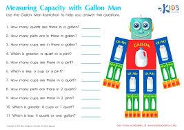 Gallon Worksheet Measurement For Free Printable Worksheets