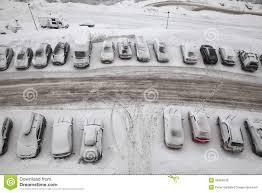 winter parking stock photo image 46304533