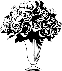 Black And White Vases Purple Ribbon Border Clipart 1906890
