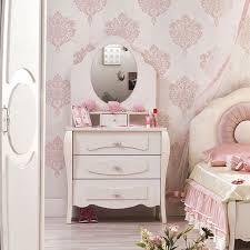 coiffeuse pour chambre coiffeuse fille et creme avec miroir integre contemporaine