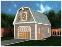 gambrel roof garages instant download barn plans