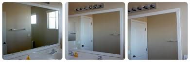 Framing Bathroom Mirrors by Frame Your Bathroom Mirror Over Plastic Clips Somewhat Simple