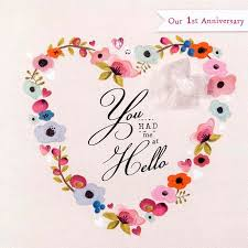 you had me at hello our anniversary card karenza paperie